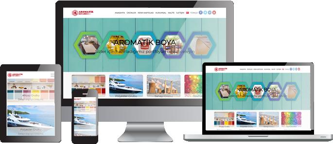 Aromatik Boya Web Sitesi Hizmeti